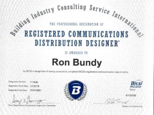 Ron Bundy certification